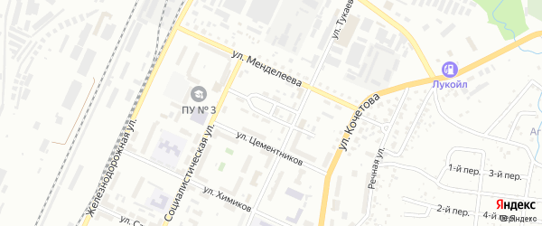 Переулок Тукаева на карте Стерлитамака с номерами домов