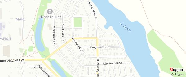 Береговой переулок на карте Салавата с номерами домов