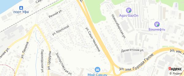 Улица Саши Чекалина на карте Уфы с номерами домов