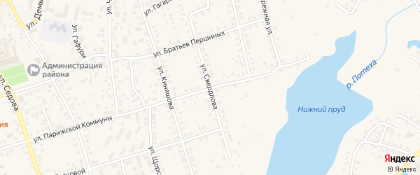 Улица Свердлова на карте Благовещенска с номерами домов
