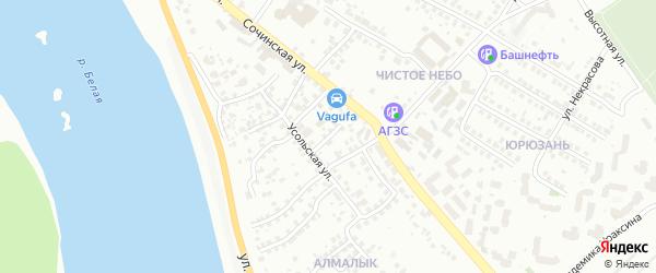 Зилаирский переулок на карте Уфы с номерами домов