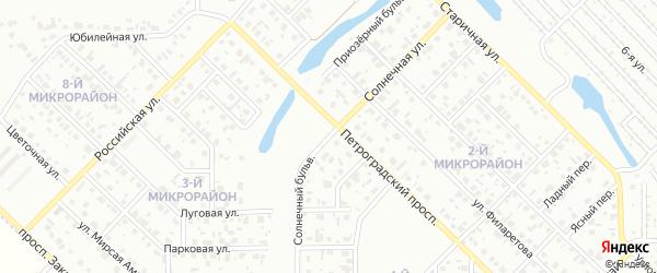 Солнечный бульвар на карте Салавата с номерами домов