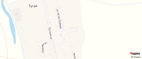 Улица 70 лет БАССР на карте села Тугая с номерами домов