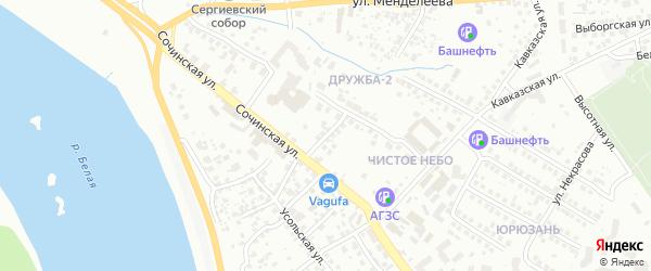 Братская улица на карте Уфы с номерами домов