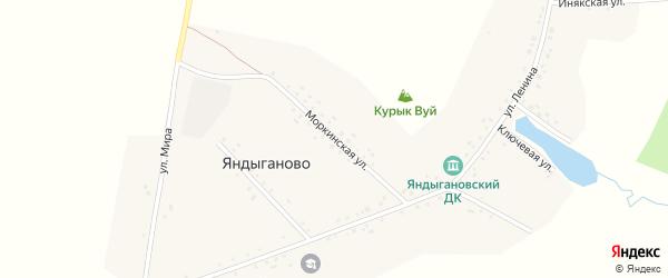 Моркинская улица на карте деревни Яндыганово с номерами домов