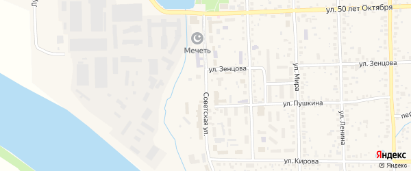Советская улица на карте Благовещенска с номерами домов