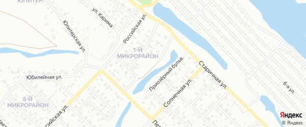Приозерный бульвар на карте Салавата с номерами домов