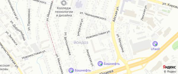 Улица Чапаева на карте Уфы с номерами домов