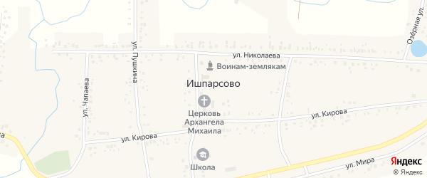 Сухореченская улица на карте села Ишпарсово с номерами домов