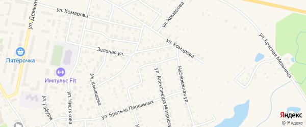 Улица Гагарина на карте Благовещенска с номерами домов
