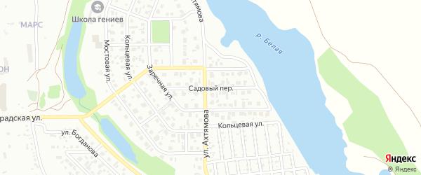 Садовый переулок на карте Салавата с номерами домов