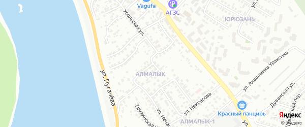 Авиаторская улица на карте Уфы с номерами домов