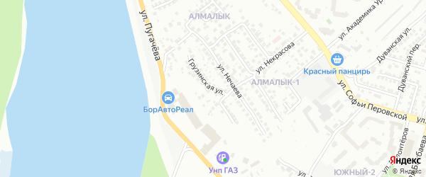 Грузинская улица на карте Уфы с номерами домов