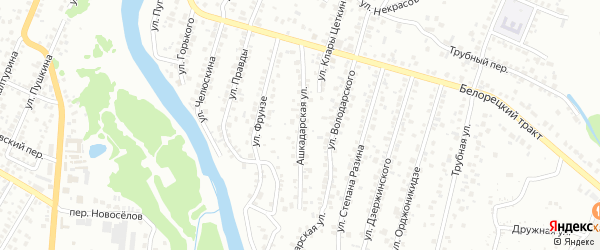 Ашкадарская улица на карте Стерлитамака с номерами домов