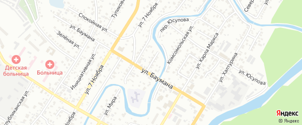 Переулок Баумана на карте Стерлитамака с номерами домов