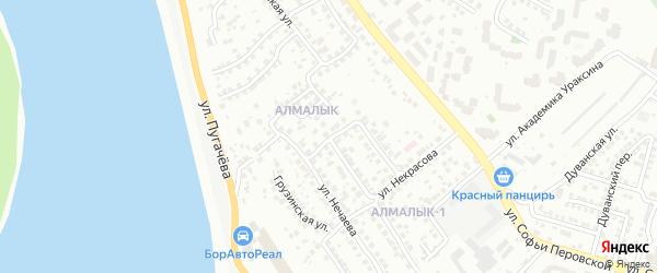 Пулеметная улица на карте Уфы с номерами домов
