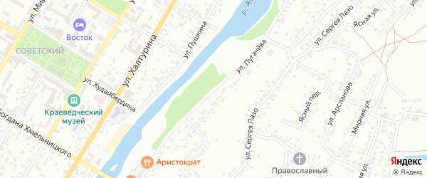 Улица Пугачева на карте Стерлитамака с номерами домов