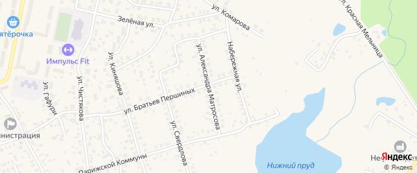 Улица Матросова на карте Благовещенска с номерами домов