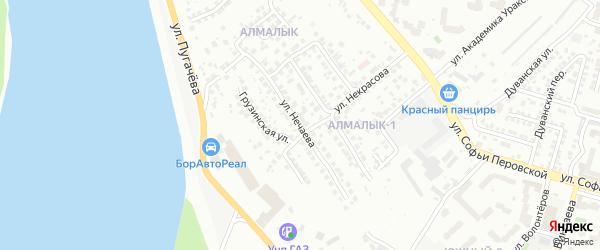 Улица Нечаева на карте Уфы с номерами домов