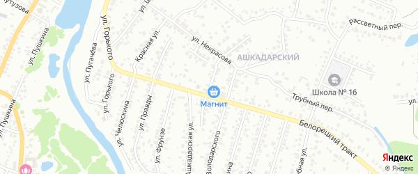 Улица Клары Цеткин на карте Стерлитамака с номерами домов