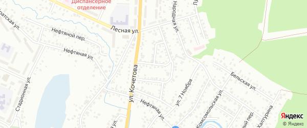 Лесной 1-й переулок на карте Стерлитамака с номерами домов