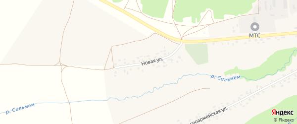 Новая улица на карте села Вязовки с номерами домов