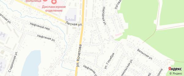 Лесной 2-й переулок на карте Стерлитамака с номерами домов