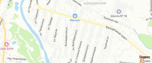 Улица Володарского на карте Стерлитамака с номерами домов