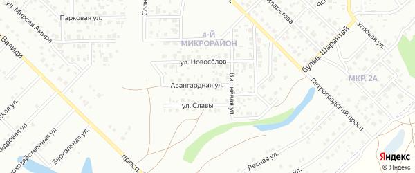 Авангардная улица на карте Салавата с номерами домов