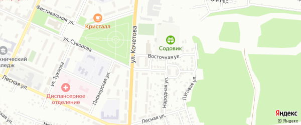Переулок Суворова на карте Стерлитамака с номерами домов