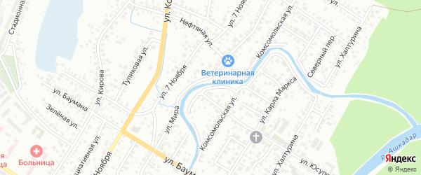 Переулок Юсупова на карте Стерлитамака с номерами домов