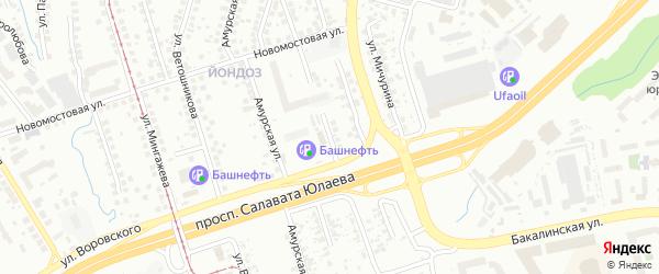 Красноярская улица на карте Уфы с номерами домов