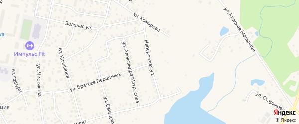 Набережная улица на карте Благовещенска с номерами домов