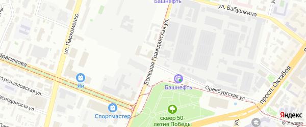 Оренбургская Малая улица на карте Уфы с номерами домов