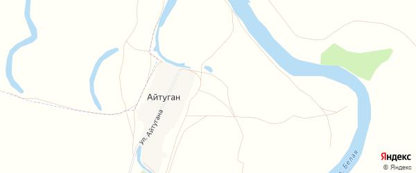 Карта деревни Айтугана в Башкортостане с улицами и номерами домов