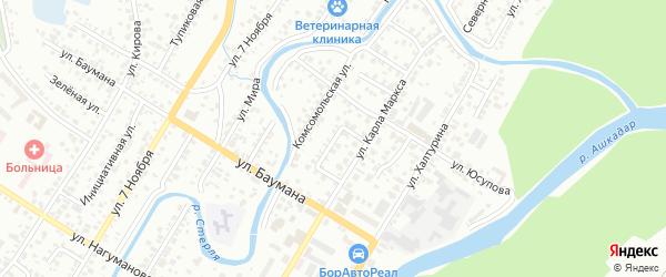 Карла Маркса 1-й переулок на карте Стерлитамака с номерами домов