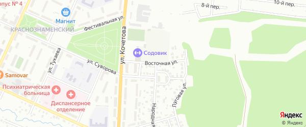 Восточная улица на карте Агидели с номерами домов