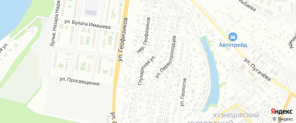Глухариная улица на карте Уфы с номерами домов