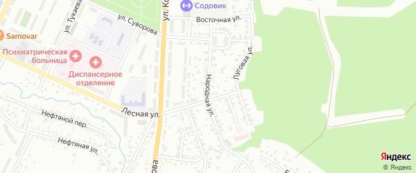 Народная улица на карте Стерлитамака с номерами домов