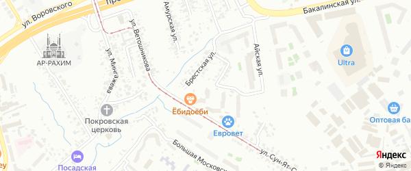 Красногвардейская улица на карте Уфы с номерами домов