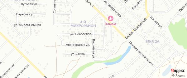 Вишневая улица на карте Салавата с номерами домов