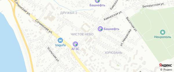 Улица Егора Сазонова на карте Уфы с номерами домов