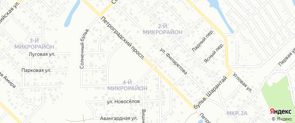 Петроградский проспект на карте Салавата с номерами домов