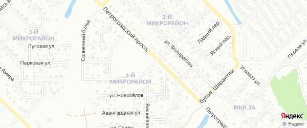 Улица Михольского на карте Салавата с номерами домов