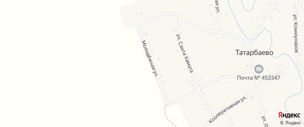 Молодежная улица на карте села Татарбаево с номерами домов