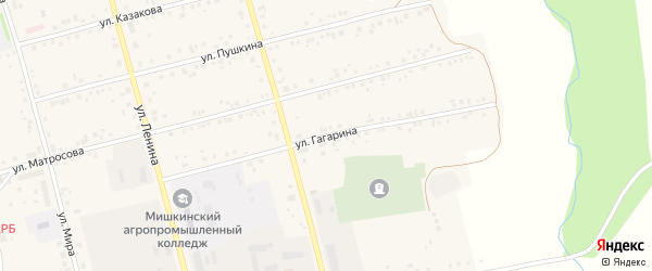 Улица Гагарина на карте села Мишкино с номерами домов
