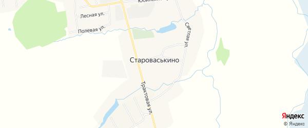 Карта деревни Староваськино в Башкортостане с улицами и номерами домов