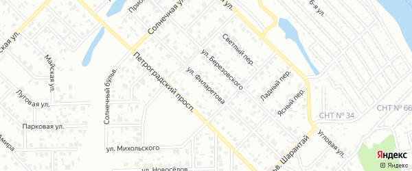 Улица Филаретова на карте Салавата с номерами домов