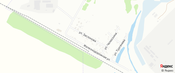 Улица Заслонова на карте Ишимбая с номерами домов