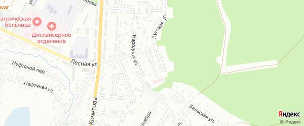 Народный переулок на карте Стерлитамака с номерами домов